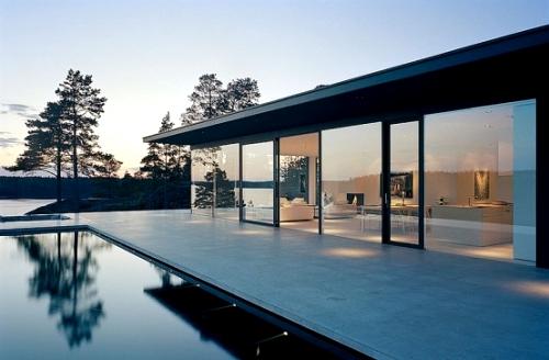 бассейн и дом - один дизайн