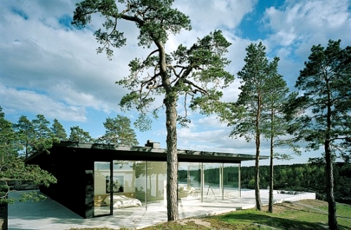 Природа и технологии-один стиль дома и бассейна