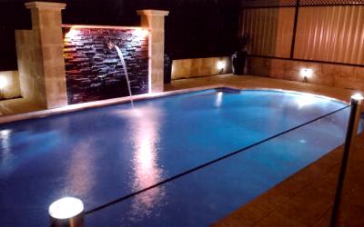 системы освещения бассейна